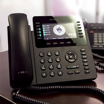 This phone is part of the extensive business phone system DFT installed for the City of Dunkirk.